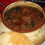 Суп харчо из свинины в горшочках